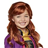 "Disney Frozen 2 Anna Wig, 18"" Long Flowing Red Hair with Braid Detail for Girls Costume, Dress Up or Halloween - For Ages"