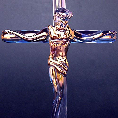 - Crucifix Figurine of Hand Blown Glass