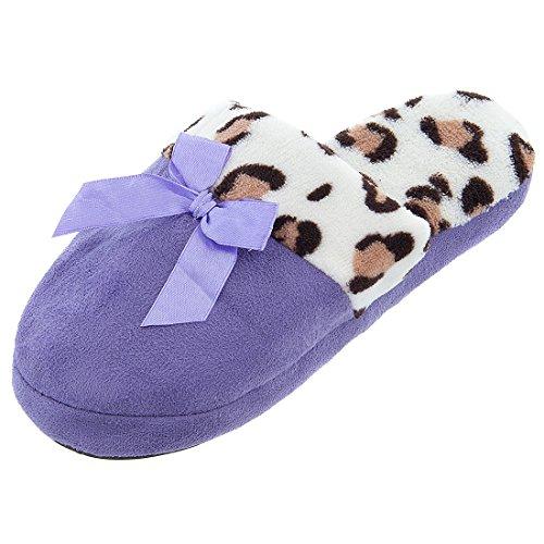Ciabatte Per Leopardo Viola Da Donna Skidder