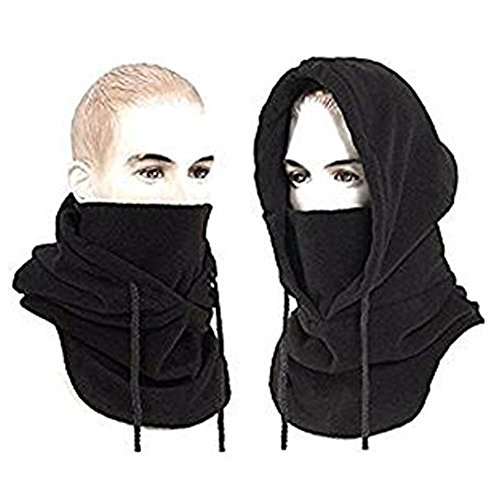 Joyoldelf Tactical Heavyweight Balaclava Outdoor Sports Mask for Outdoor Hiking Camping Hiking Skiing Cycling and Other Sports (Black)