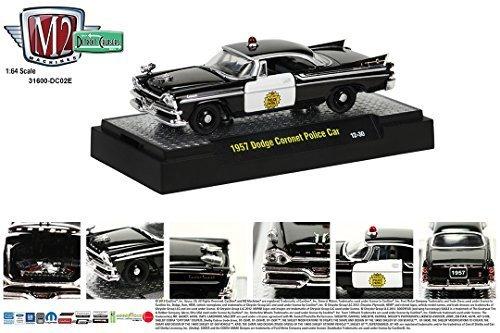 1957 Dodge Coronet Black & White Police Car M2 Machines Detr