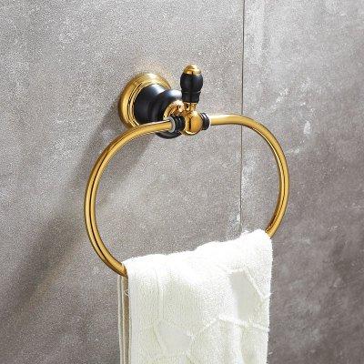Hlluya Toallero Los Cuartos de baño baños Conjunto Negro Oro Viejo toallero de baño WC, Toallas Ring: Amazon.es: Hogar