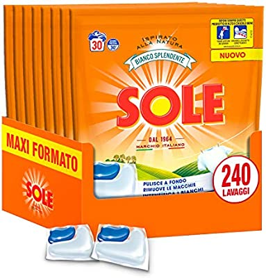 Sole Caps 3 en 1, detergente lavadora en cápsulas monodosis ...