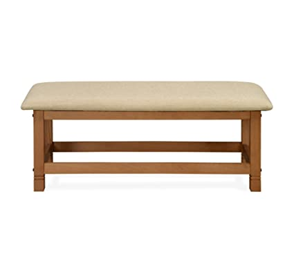 @home by Nilkamal Roosey Two Seater Dining Bench (Natural Walnut)