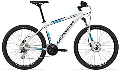 "Cannondale TRAIL 6 Mountain bike 26"" Men's 24 speed disc Bike white / blue 19"" frame"