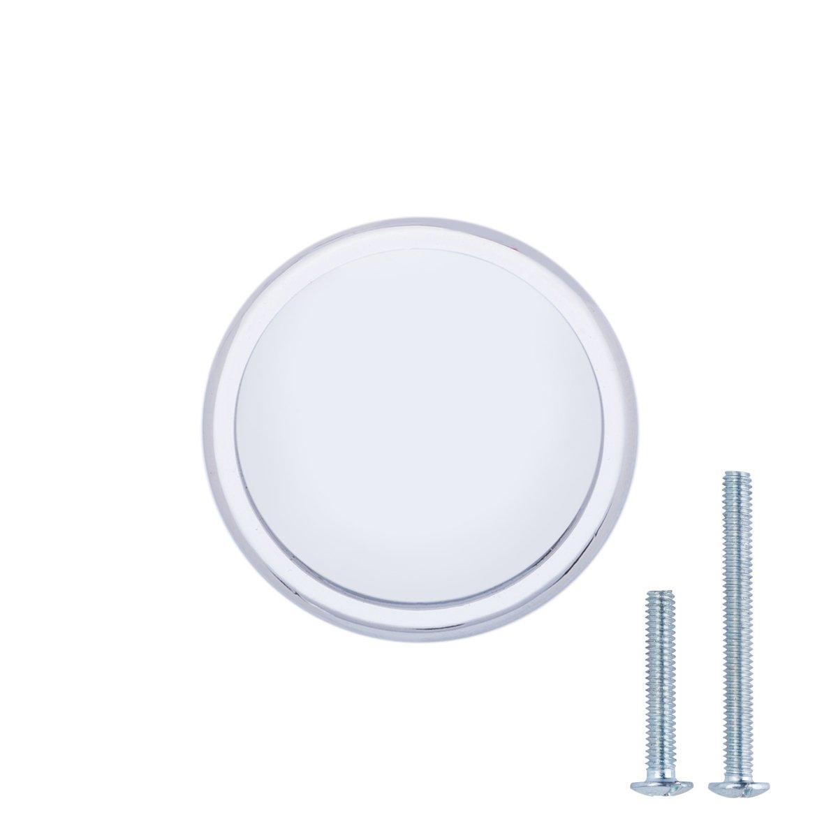 Durchmesser: 3,17 cm 25er-Pack Basics Ge/öltes Bronze M/öbelgriff leicht gew/ölbt Schubladenknopf
