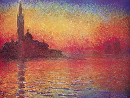 San Giorgio Maggiore by Twilight, Dusk in Venice, c.1908 Poster by Claude Monet