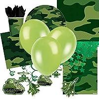 Camuflaje Ejército Temática Paragolpes Artículos Para Fiestas Pack