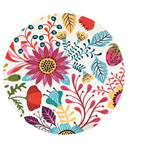 Ceramic Coaster Set of 4,Absorbent Stone Coasters for Cold Drinks Coffee Mug Glass Cup Place Mats (Sun Flower) ()