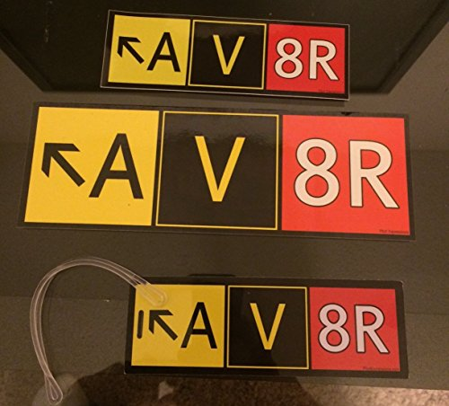 Deluxe Aviator (AV8R) Airport Taxiway Sign 3 Piece Combo Pack