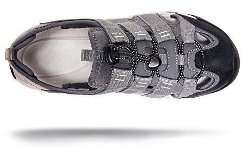 Atika AT-M107-GRY_Men 11 D(M) Men's Sports Sandals Trail Outdoor Water Shoes 3Layer Toecap M107