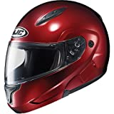 HJC Metallic Men's CL-MAX II Bluetooth On-Road Motorcycle Helmet - Wine / Large
