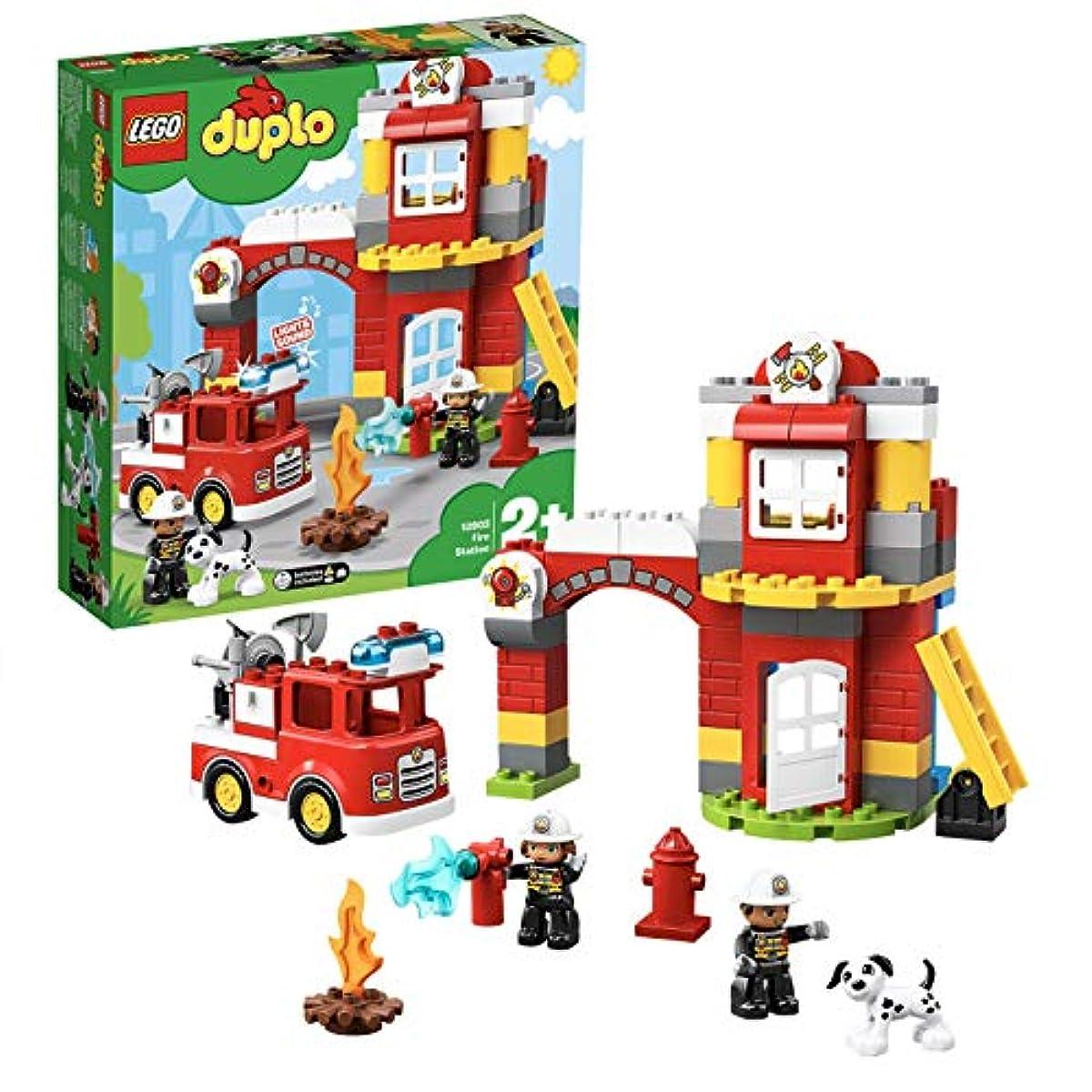 [해외] 레고(LEGO) 듀플로 빛난! 울린! 소방차와 소방서 10903 교육 완구 블럭 장난감 사내 아이