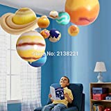 VT BigHome 10 Pieces/Set Solar Galaxy Teaching Model Balloons Charm Simulation Nine Planets In Solar System Children Blow Up Inflatable Toy