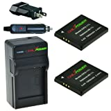 ChiliPower NB-11L 1000mAh Battery 2-Pack + Charger (US Plug) for Canon PowerShot A2300 IS, A2400 IS, A2500, A2600, A3400 IS, A3500 IS, A4000 IS, ELPH 110 HS, ELPH 115 HS, ELPH 130 HS, ELPH 320 HS, ELPH 340 HS
