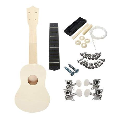 Keliour-mus Guitarra Junior Clásica 1 Juego de Madera de Color DIY ...