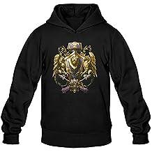 Mens Game World Of Warcraft Alianca Logo Hoodie Black