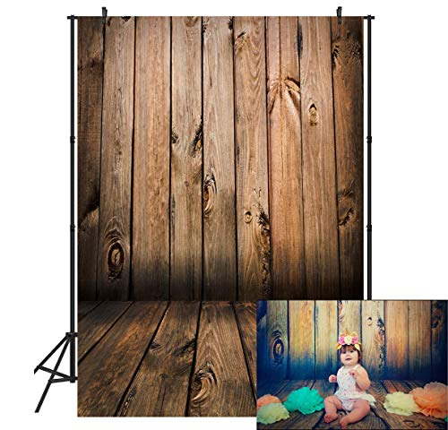 Duluda Wood Series Theme 5X7FT Indoor Studio Photography Background Computer-Printed Poly Fabric Seamless Backdrop GMT01 (Rolled Backdrops)