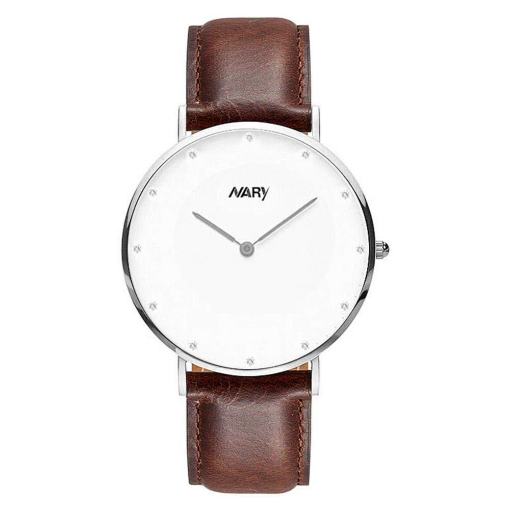Filfeel Sencillo y Elegante, Reloj Claro para Pareja, Impermeable a 30 m, sin cinturón de Segunda Mano.(marrón Oro Rosa Hombre): Amazon.es: Hogar