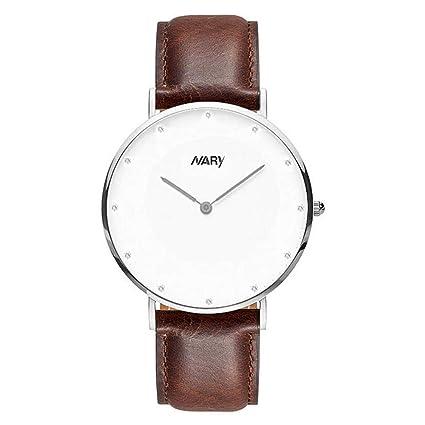 Filfeel Sencillo y Elegante, Reloj Claro para Pareja, Impermeable a 30 m, sin
