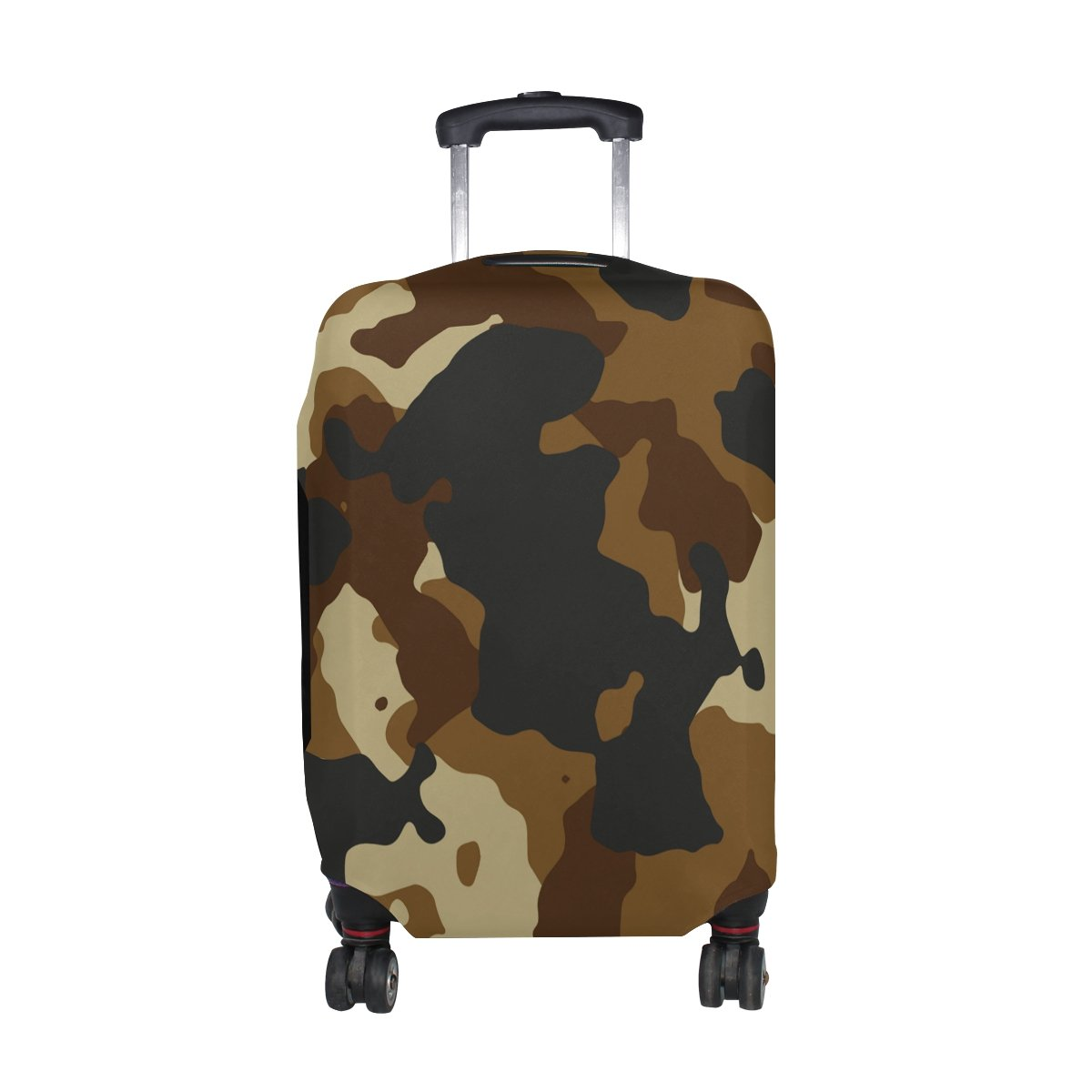 Military Camo Camouflage Pattern Print Travel Luggage Protector Baggage Suitcase Cover Fits 18-20 Inch Luggage