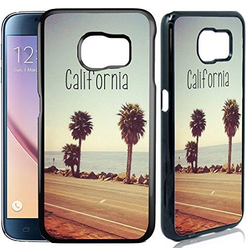 Price comparison product image Samsung Galaxy S6 Designer Plastic Case - California Beach - Ultra Durable Slim & HARD PLASTIC Highly Protective Vibrant Snap On Designer Back Case / Cover [TeleSkins]