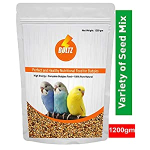 Boltz Bird Food for Budgies – Mix Seeds 1200 Gm
