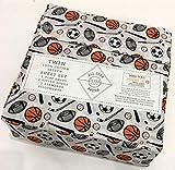 All Star Arena Sports Twin Sheet Set | 100% Cotton Sateen | Football Soccer Baseball Basketball Hockey