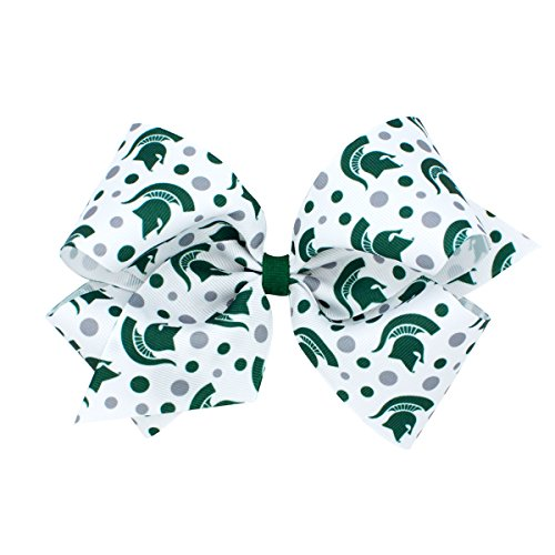 Wee Ones King Size NCAA Collegiate Print Bow, Michigan State