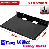 Home Bliss Set Top Box / DTH Stand - Wall Mount Stand, Black (Ideal For All Type Set Top Box)