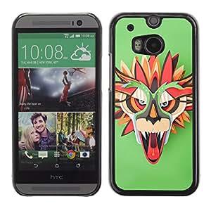 CaseLord Carcasa Funda Case - HTC One M8 / Colorful Dragon Mask /