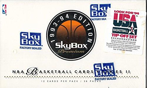 1993-94 Skybox Premium Basketball Series 2 Sealed Box Of 36 12 Card Packs