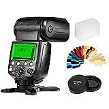 Pixel X800N Standard Wireless Flash Speedlite with TTL HSS Functions+Pixel Lens Cap+20 Color Filtersfor Nikon D7100 D7000 D5100 D5000 D3200 D3100 D600 D90 D5300 D750 Cameras