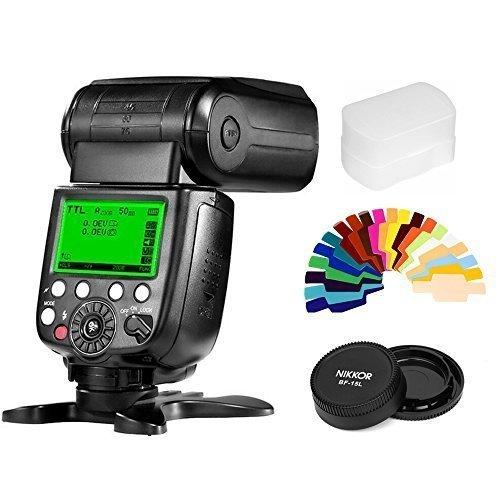 Pixel X800N Standard Wireless Flash Speedlite TTL HSS, Lens Cap,20 Color Filters for Nikon Cameras as YONGNUO YN568EX YN685N