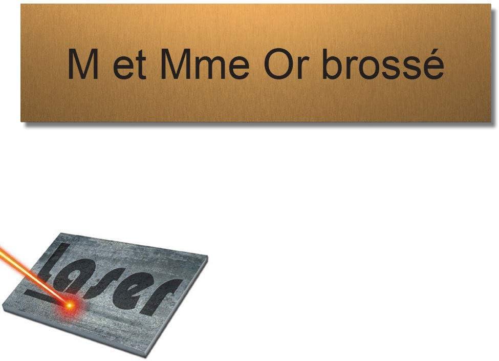 1 a 3 l/íneas 10 x 2,5 cm Personalizada Mygoodprice Placa grabada para el Nombre del buz/ón de Letras autoadhesiva