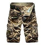 daqinghjxg New Cargo Men Top Design Camouflage Military Army Khaki Shorts Summer Outwear Hip Hop Casual Cargo Camo Khaki 42