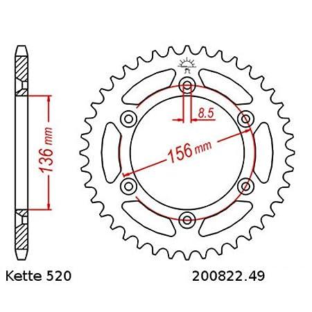 offen Kettensatz Husqvarna SM 125 S 00-10 14//49 Kette RK 520H 114