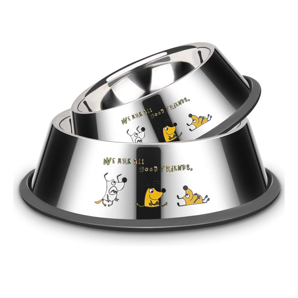 6 JIANXIN Dog Bowl, Cat Food Bowl, Stainless Steel, Suitable for All Kinds of Dogs (Size   6)