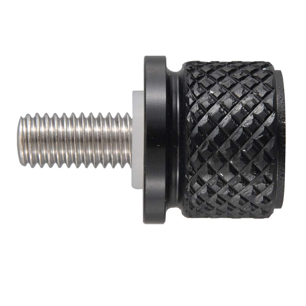 Skull Black Billet Aluminum Hard Anodized Seat Bolt Screw for Indian Chief Roadmaster Scout 2014-up