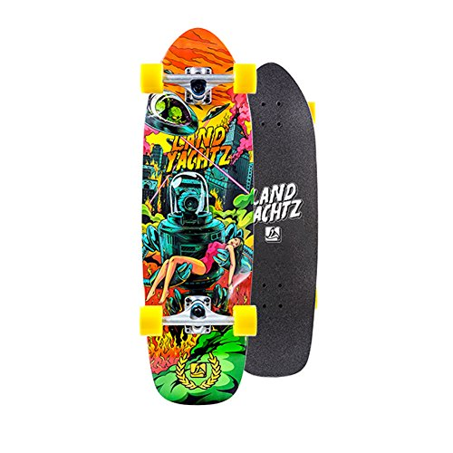 Landyachtz Peacemaker UFO Girl Complete Longboard Skateboard - 9.7