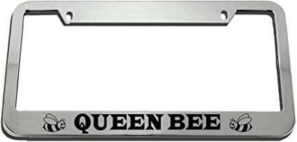 Speedy Pros Queen Bee License Plate Frame Tag Holder