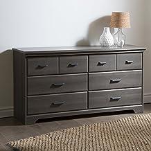 South Shore Furniture Versa 6-Drawer Double Dresser, Gray Maple