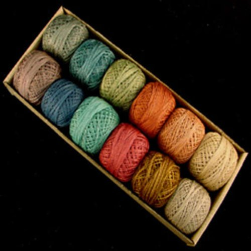 Valdani Perle Cotton Size 12 Embroidery Thread Bigsby Designs Light Sampler Set