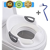 Potty Training Seat For Kids Toddlers Boys Girls Toilet Seat For Baby With Cushion Handle And Backrest Toddlers Toilet Training Seat Anti-slip Great Mommy's Helper for Baby Kids Toddlers