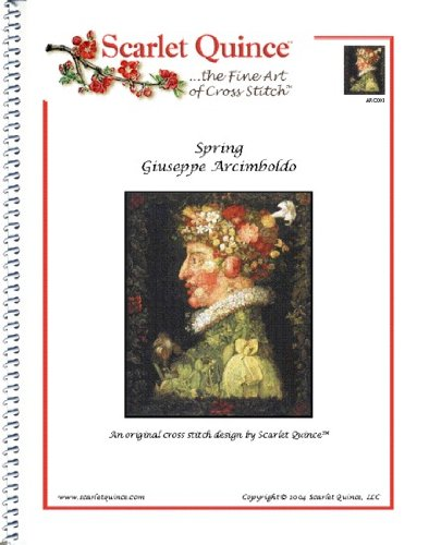 - Scarlet Quince ARC001 Spring by Giuseppe Arcimboldo Counted Cross Stitch Chart, Regular Size Symbols