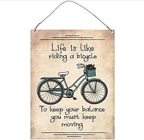 La vida es como andar en bicicleta para mantener el equilibrio que ...