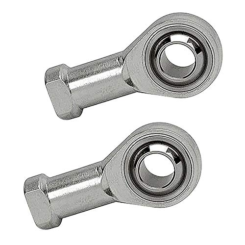 (Smartsails SI10T / K, Aperture 10mm Inner Diameter Self-Lubricating Rod End Joint Bearing Female Thread Female Right Hand 2 Pieces)