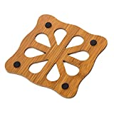 Gilroy Cute Wooden Cup Pad Heat Resistant Hollow Coasters Mat Table Protect - 5
