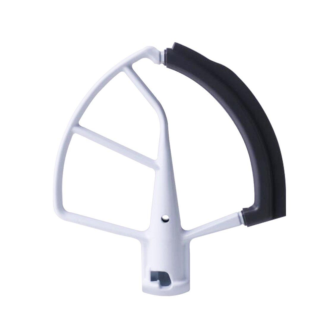 Flex Edge Beater for KitchenAid Mixer - Lift Stand Tilt-Head Mixers Attachment for 5.5 QT and 6 Quart Bowls - Bowl Scraper Blade Accessory White - By Flexpro