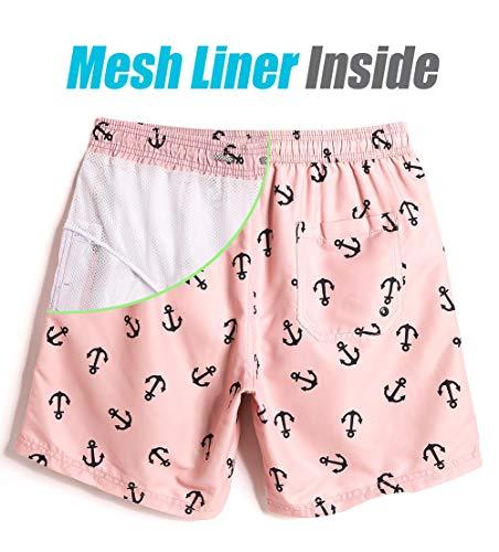 8b83b0dcd23f69 MaaMgic Mens Slim Fit Quick Dry Short Swim Trunks with Mesh Lining | TOP  MERCH DEALS